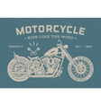 Vintage race motorcycle old school style Poster vector image
