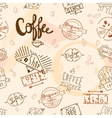Vintage retro coffee seamless vector image vector image