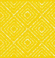 white and yellow paint dot summer pattern vector image vector image