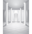 White hall with columns vector image vector image