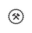 woodworking gear logo design template element vector image vector image