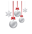 xmas balls and snowflakes vector image