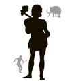 Ancient hunter vector image