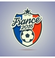 France 2016 soccer badge vector image