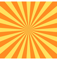 Yellow rays poster star burst vector image