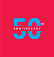 50 year anniversary template design 4 vector image vector image