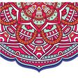 abstract mandala flower pink tone design im vector image vector image