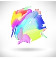 abstract watercolor splash design element vector image vector image