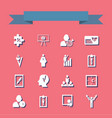 assembly in flat style icons theme business vector image vector image
