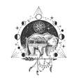 bear tattoo or t-shirt print design vector image vector image
