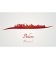 Belem skyline in red vector image vector image