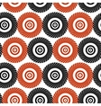 Black and red pattern of stylized circles vector image vector image