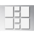 blank picture frames templates parts picture vector image
