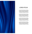 blue silk satin material wavy fashion banner vector image