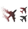 broken pixel halftone bomber icon vector image vector image