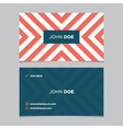 business card pattern red 06 vector image