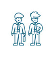 business partners linear icon concept vector image vector image
