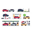 car service road crashes and vehicle usage vector image