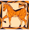 Chinese horoscope stylized stained glass horse vector image vector image
