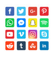 collection social media icons vector image vector image