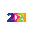colored 2021 happy new year elegant design vector image vector image