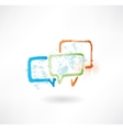 Coloured speech bubbles Brush icon vector image vector image