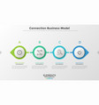 concept of connection business model vector image vector image