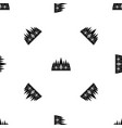 crown pattern seamless black vector image vector image