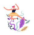 dance class of woman lady practicing ballet vector image