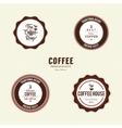 Delicious coffee labels vector image vector image