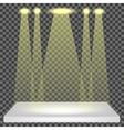 Empty Shelf Isolated Spotlights Set vector image vector image