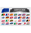 european union eu and membership association vector image vector image