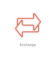 exchange arrow icon reverse swap switch vector image vector image