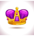 Fancy cartoon golden crown icon vector image vector image