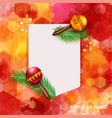 festive red and orange card design with rattles vector image