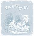 fish ocean deep vector image vector image