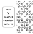 Geometric seamless pattern of seashells vector image vector image