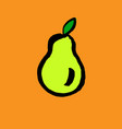 green pear grunge icon vector image vector image