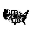 happy 4th july with fireworks over american vector image