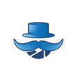 hat and mustache photography man logo icon design vector image