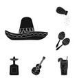 isolated object of carnival and national icon set vector image