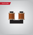 isolated spool flat icon coil copper vector image vector image