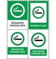 label set smoking place vector image vector image