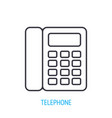 landline phone outline icon vector image