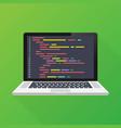 laptop coding concept web developer design vector image vector image