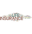 life insurance over over age or even age text vector image vector image