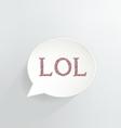 LOL vector image vector image
