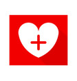 medical heart icon vector image vector image