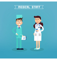 Medical Staff Nurse and Doctor Hospital vector image vector image