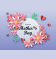 mother s day text design with paper hearts vector image